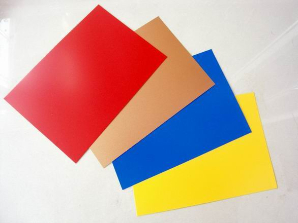 Prepainted aluminum coil colors in construction